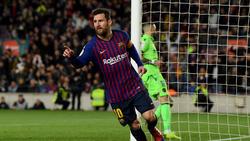 Messi celebra uno de sus tantos ante el Valencia. (Foto: Getty)