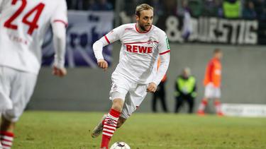 Marcel Risse vom 1. FC Köln musste nach dem Mittagessen behandelt werden