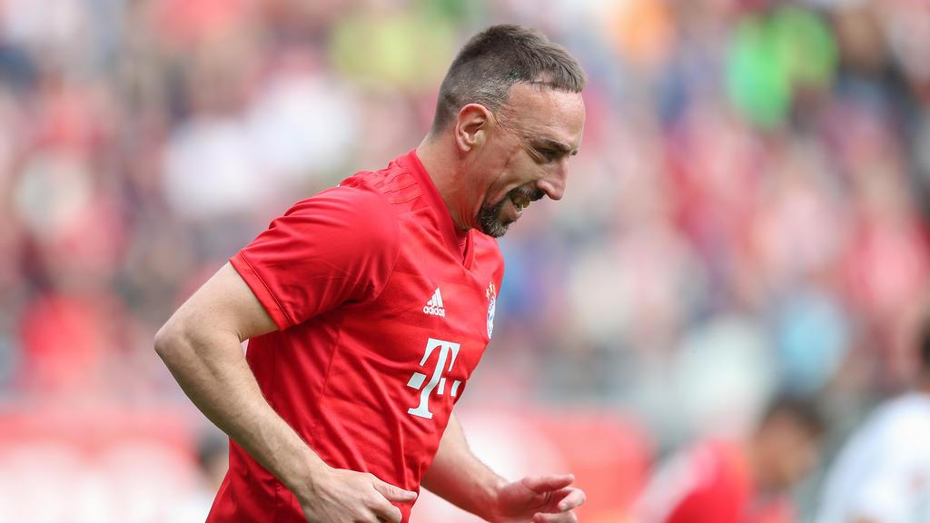 Franck Ribéry verabschiedete sich mit dem Double vom FC Bayern