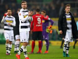 Gladbachs Kramer (Mitte) bestritt sein 100. Bundesligaspiel