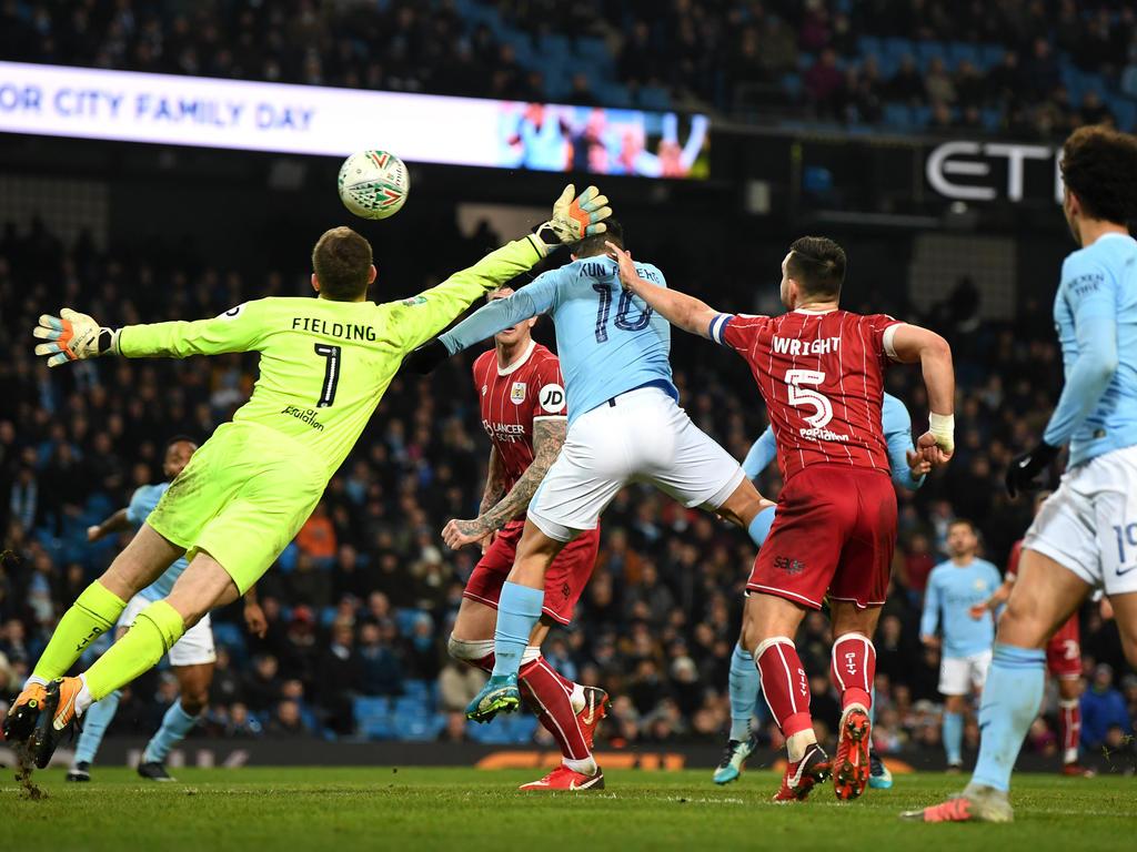 Manchester City gewinnt im Ligapokal gegen Bristol City