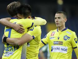 Der SKN St.Pölten jubelt über den Einzug ins ÖFB-Cup Viertelfinale