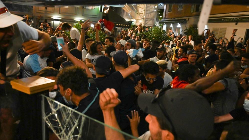 Marseille-Fans feiern Bayerns CL-Triumph