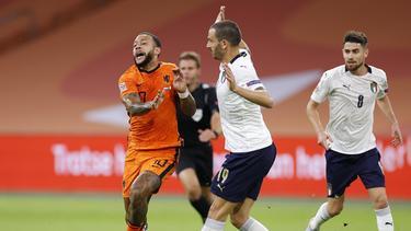 Italien gewinnt gegen die Niederlande