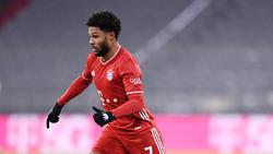 Serge Gnabry zog sich beim Sieg des FC Bayern gegen Mainz 05 eine Schienbeinprellung zu