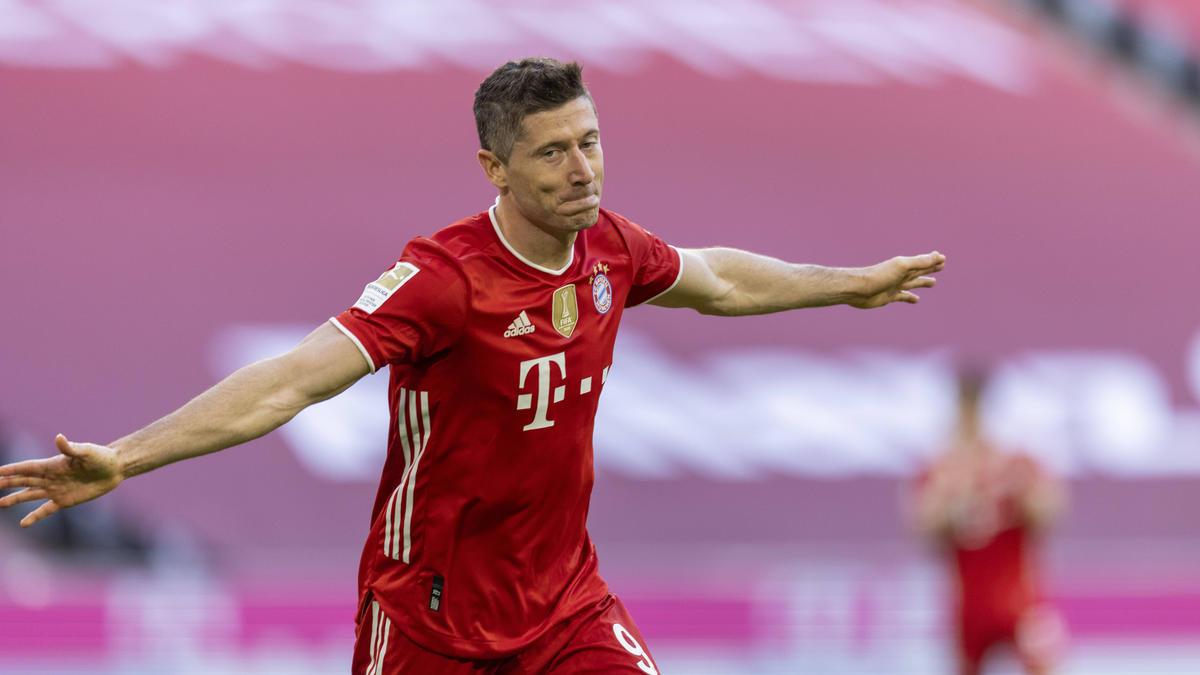Robert Lewandowski wurde beim FC Bayern gebührend gefeiert