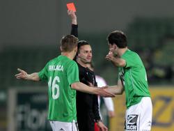 Rot bedeutet für Nedeljko Malić eine Sperre im Burgenland-Derby