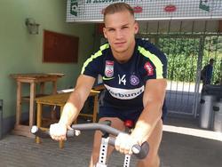 Christoph Monschein kann vorerst nicht mit der Mannschaft trainieren. © FK Austria Wien