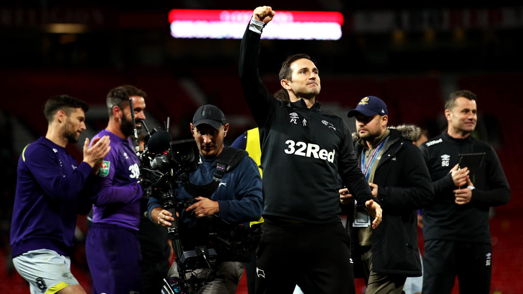 Frank Lampard durfte gegen Manchester United jubeln