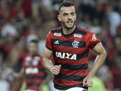 Leonardo Duarte hizo el segundo de cabeza para Flamengo. (Foto: Imago)