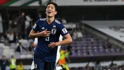 Genki Haraguchi steht mit Japan im Finale des Asien-Cups