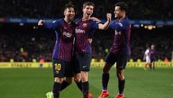 Lionel Messi (l.) steht mit dem FC Barcelona im Halbfinale der Copa del Rey