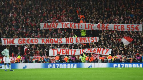 Die Fans des FC Bayern machten in Liverpool auf sich aufmerksam