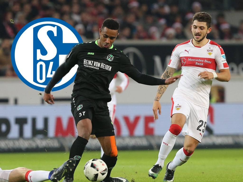 Noah Joel Sarenren-Bazee (l.) könnte ein Kandidat für Schalke 04 sein