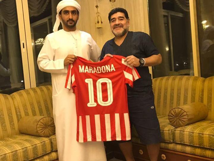 Diego Maradona hat einen neuen Trainerjob in den Vereinigten Arabischen Emiraten. (Bild-Quelle: Facebook)