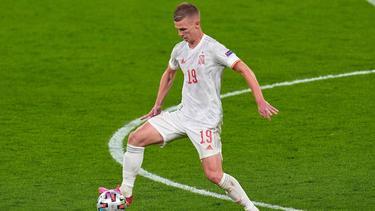 Dani Olmo von RB Leipzig konnte kein Tor für Spanien erzielen
