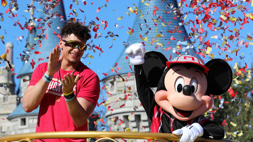Ließ sich in Disney World feiern: Champion-Quarterback Patrick Mahomes