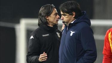 Filippo Inzaghi (l) und Simone Inzaghi trennten sich unentschieden