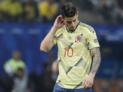 James no pasa por su mejor momento en lo futbolístico.