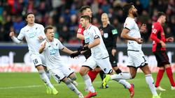 Die TSG Hoffenheim setzte sich in einem wilden Spiel gegen Freiburg durch