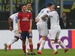 Der SK Rapid hielt sich gegen Inter tapfer, war aber im Endeffekt chancenlos