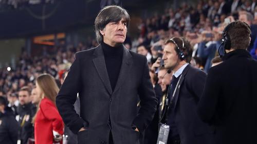 Bundestrainer Joachim Löw stellte sich nach dem Spiel gegen Serbien den Fragen der Journalisten