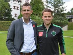 Stefan Rakowitz mit Wacker-Innsbruck Geschäftsführer Ali Hörtnagl