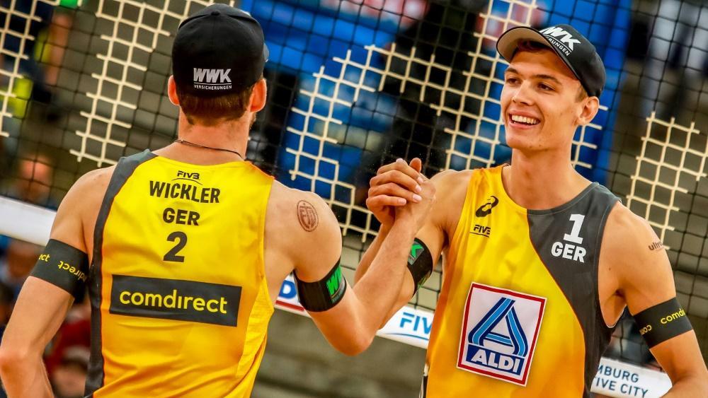 Wickler (l.) und Thole sind ins WM-Halbfinale eingezogen