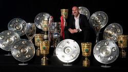 Ribéry posa con los títulos conseguidos en Alemania.