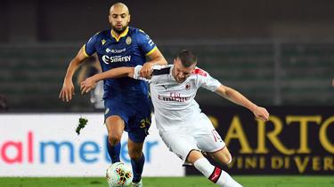 Ante Rebic (r.) ist nach seinem Abschied von Eintracht Frankfurt noch nicht glücklich geworden