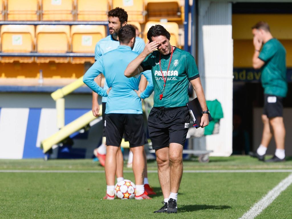 Emery en un entrenamiento de esta semana.