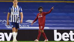 Mo Salah schnürte gegen Brighton & Hove Albion einen Doppelpack