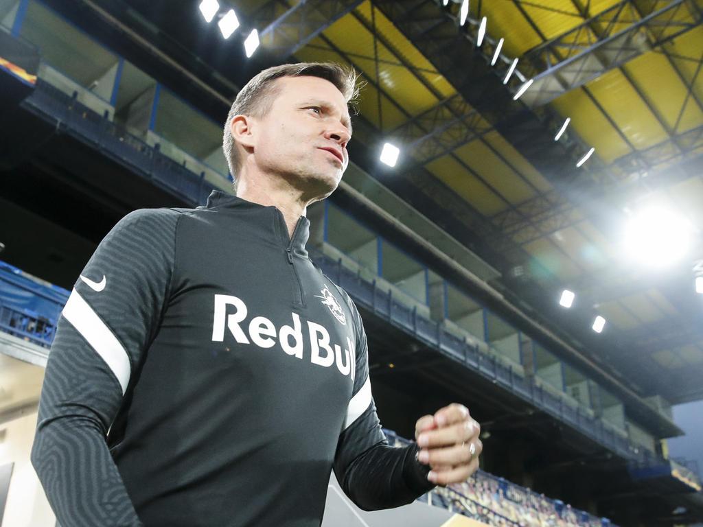 Salzburg-Trainer Jesse Marsch geht optimistisch in die nächsten Spiele