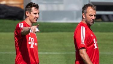 Miroslav Klose (l.) hat jahrelang für Lazio Rom gespielt