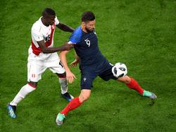 Olivier Giroud sieht die Franzosen trotz der Spielweise im positiven Bereich