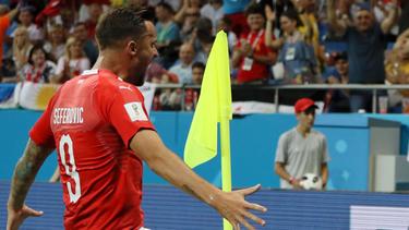 Haris Seferovic traf drei Mal für die Schweiz