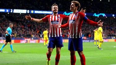 Saúl und Griezmann (r.) trugen sich gegen Dortmund in die Torschützenliste ein