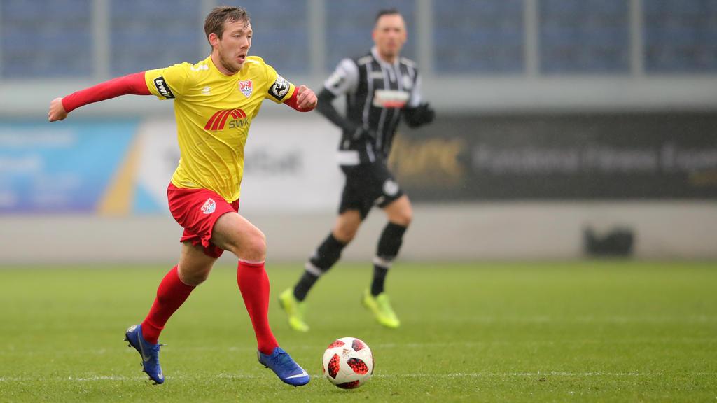 Connor Krempicki und der KFC kamen gegen Münster nicht über ein 0:0 hinaus