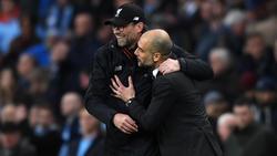 Jürgen Klopp hofft, dass Pep und ManCity im Derby stolpern