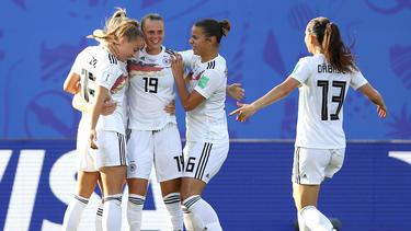 Deutschland jubelt nach dem Einzug ins Viertelfinale