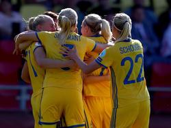 Die Schwedinnen hatten im zweiten Gruppenspiel gegen Russland keine Probleme
