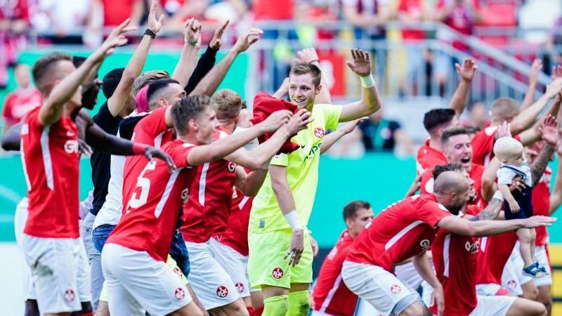 Der 1. FC Kaiserslautern gewann im DFB-Pokal das Derby gegen Mainz 05