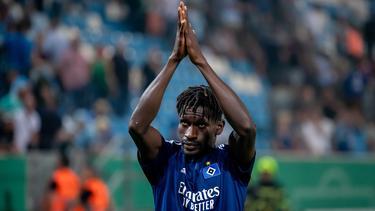 Steht für das Spiel in Karlsruhe im HSV-Kader: Bakery Jatta