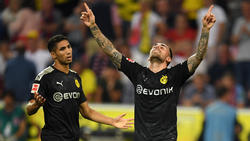 Torschützen unter sich: Achraf Hakimi und Paco Alcácer trafen für den BVB in Köln