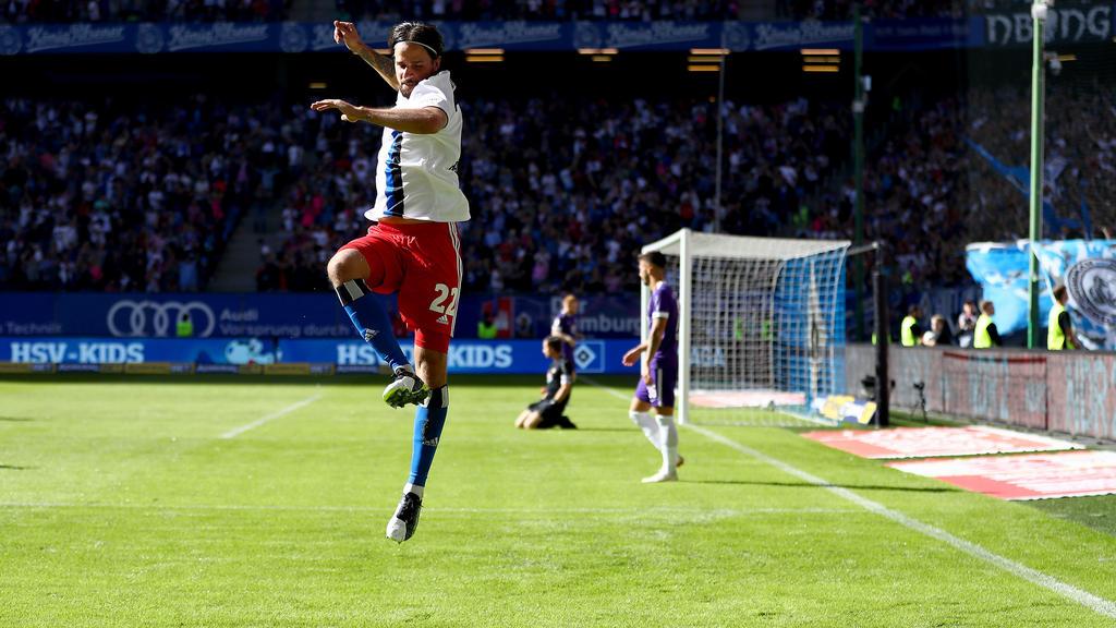 Martin Harnik bejubelt einen Treffer beim HSV-Sieg