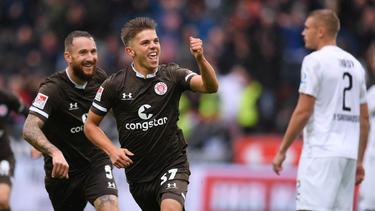 Finn Ole Becker erzielte gegen Sandhausen sein erstes Tor für den FC St. Pauli
