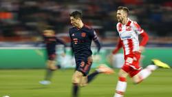 Robert Lewandowski vom FC Bayern enteilte am Dienstagabend allen Bergrader Verteidigern
