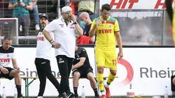 Steffen Baumgart (l.) erwartet von Mark Uth beim 1. FC Köln viel Einsatz