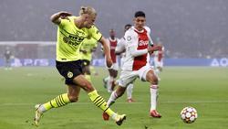 BVB-Shootingstar Erling Haaland (l.) am Dienstagabend gegen Ajax Amsterdam
