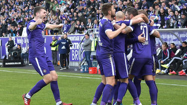Die Auer konnten gegen den HSV insgesamt dreimal jubeln